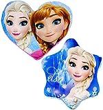 Unbekannt Kuschelkissen / Schmusekissen -  Disney Frozen - die Eiskönigin  - 36 cm - groß - Stern Form - sehr weich - für Mädchen & Jungen - auch als Sitzkissen - völ..