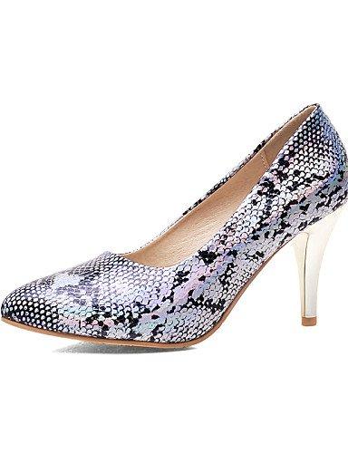 WSS 2016 Chaussures Femme-Bureau & Travail / Décontracté-Noir / Bleu / Rose-Talon Aiguille-Talons / Bout Pointu-Talons-Synthétique black-us8 / eu39 / uk6 / cn39
