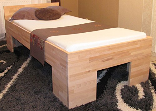 erhöhtes Holzbett Seniorenbett 100x200cm für schwere Personen geeignet (3129)