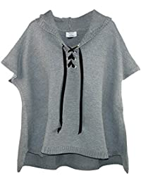 David & Young Women's Knit Poncho with Hood