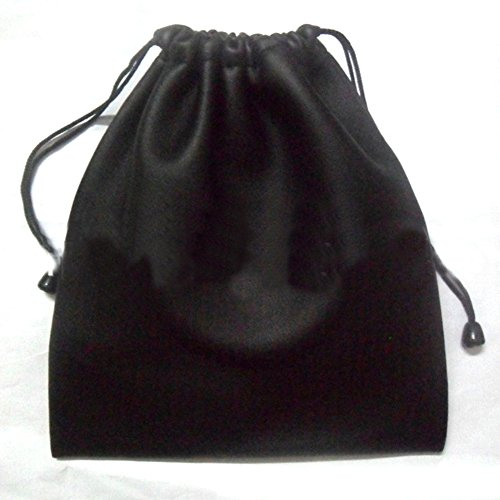 Kopfhörer-Beutel, wasserdichte Schutztasche aus PU-Leder mit Kordelzug für Kopfhörer, Aufbewahrungstasche, schwarz