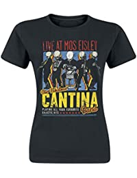 Star Wars Cantina Band Girlie Shirt Damen Schwarz Baumwolle