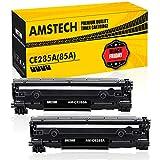 Amstech 2Pack Kompatibel für HP CE285X 85X HP85A 85A 285A CE285A CE285AD für HP LaserJet Pro P1102w P1102 1102w m1212nf MFP Laserjet 1100 1200 Toner Schwarz Druckerpatrone M1217nfw M1132