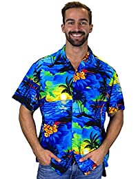 Funky Hawaiian Shirt, blue, Extra-Small