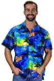 Funky Chemise Hawaienne, Surf, Bleu, XL