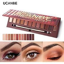 Jaminy 12 Colors Shimmer Matte Eyeshadow Eye Shadow Palette Cosmetic Brush Set
