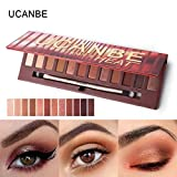 Jaminy 12 Colors Shimmer Matte Eyeshadow Eye Shadow Palette Cosmetic Brush Set