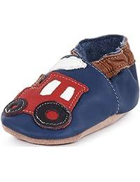 Chaussures En Cuir Souple Bébé Tracteur 4-5 Ans hXyShvOe