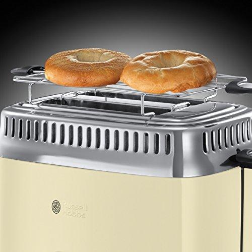 Russell Hobbs 21682-56 Retro Vintage Cream Toaster mit stylischer Countdown-Anzeige - 6