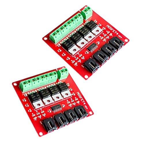 Homyl 2 Stücke IRF540 V2.0 MOSFET Schaltermodulplatine Vierkanal für Arduino DIY -