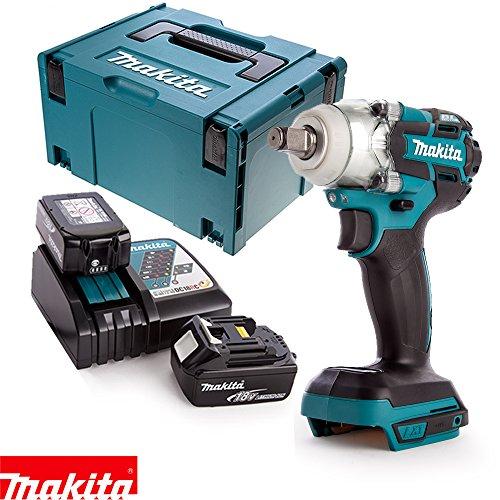 Makita DTW285Z 18V Brushless Impact Wrench + 2 x 4Ah
