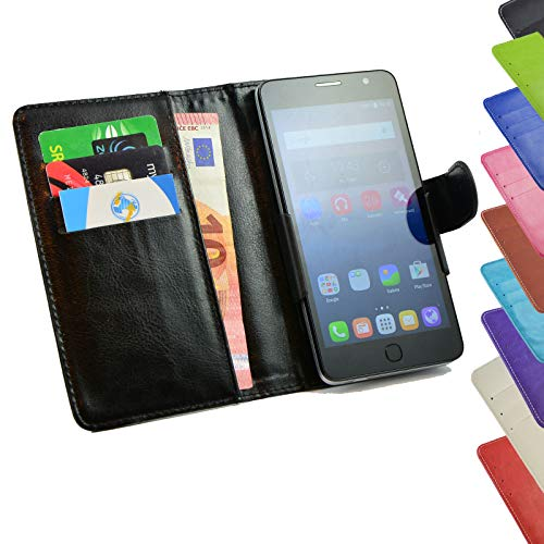 ikracase Tasche für Mobistel Cynus F9 Hülle Cover Case Etui Handy-Tasche Schutz-Hülle in Schwarz