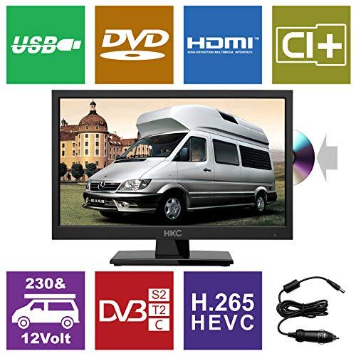 HKC 17H2C: 43,9 cm (17 Zoll) LED-Fernseher (HD-Ready, Triple Tuner, CI+, Mediaplayer USB 2.0, 12V Kfz-Ladegerät) [Energieklasse A+]