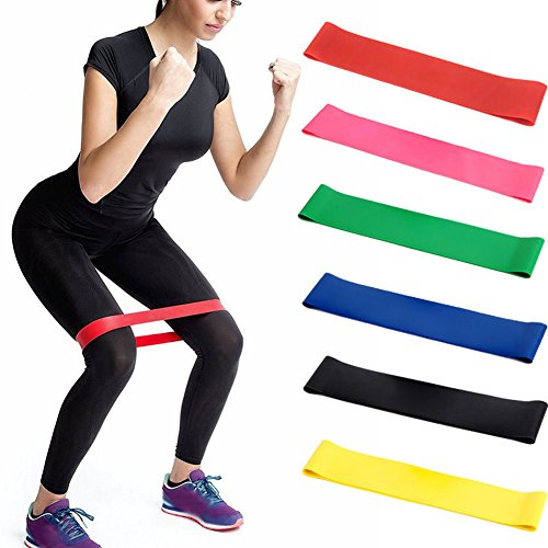 Fitness Widerstand Band, Yoga Stretch Loops Bands Elastische Booty Band Workout für Beine und Kraftt (Grün) - Stretch-band Workout