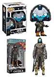 FunkoPOP Destiny: Cayde-6 + McFarlane Toys: Cayde-6 7-inch Action Figure - Stylized Video Game Bundle Set