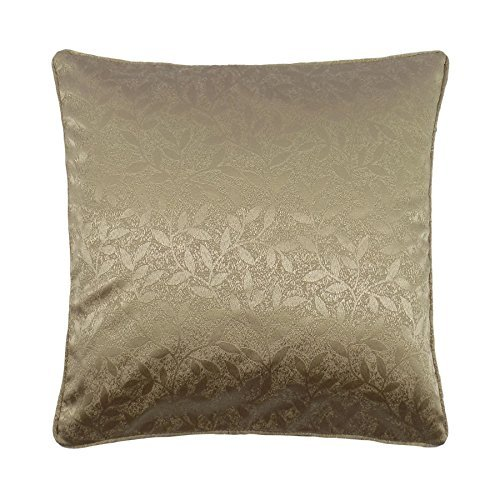 brillo-metalico-hojas-marron-beige-tejido-cojin-con-cubierta