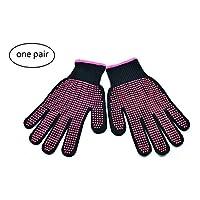 Tiunyeah ProfessionalHeatResistant Gloves forHairStyling-1PairNon-Slip Heat Proof ProtectionGloveswithSiliconeDot-HeatBlockingMittsforFlatIronandCurlingWand