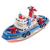 Demiawaking Feuer Boot Electric Boot Kinder Elektrisches Spielzeug Navigation Nicht Remote Kriegsschiff
