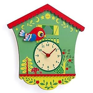 Little big room by Djeco-Horloge en bois Coucou Peggy Gaspard