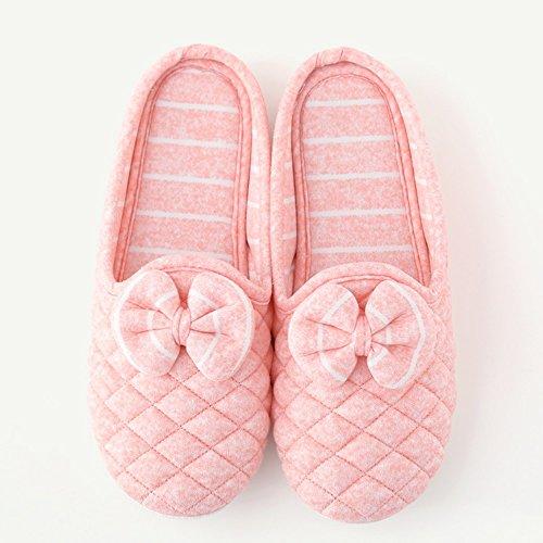 Mois de chaussures Été section mince de lemballage avec les pantoufles maternelles post-partum Pantoufles de coton antidérapantes respirantes à lintérieur de lintérieur (4 couleurs en option) (tail B