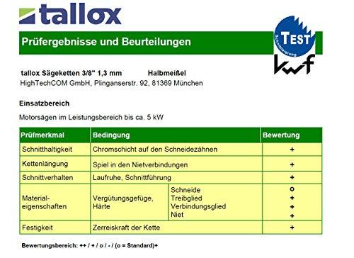 3 tallox Catene per motosega 3/8 1,3 mm 55 maglie...