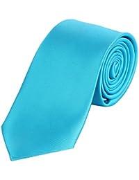 DonDon Herren Krawatte 7 cm klassische handgefertigte Business Krawatte für Büro oder festliche Veranstaltungen