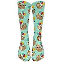 hat pillow Lazy Cute Sloths Cotton Smooth Compression Knee Socks Afforable Hiking Teen Cartoon Knee-high Long Tube Crew Socks