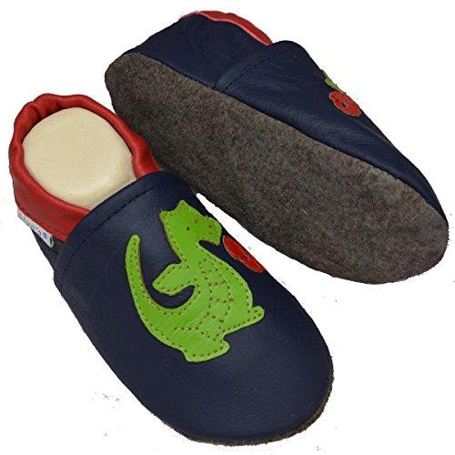Chaussons chaussures blaue liya's#555–modèle dragon bleu foncé Bleu - Bleu foncé