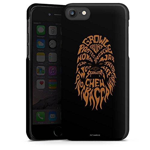 Apple iPhone X Silikon Hülle Case Schutzhülle Star Wars Merchandise Fanartikel Chewbacca Typo Hard Case schwarz