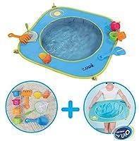 """La gamme de """"Plage"""" de LUDI assure aux parents de vivre la plage avec sérénité. Grâce à la Piscine de plage pop-up, les tout-petits peuvent profiter de l?eau de mer sous les yeux de leurs parents et tout près de leur serviette. La piscine de ..."""