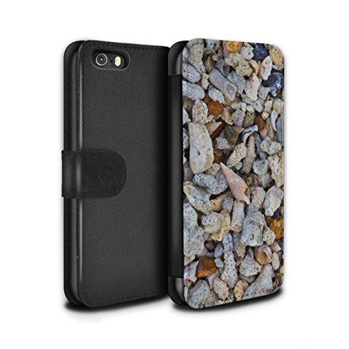 STUFF4 PU-Leder Hülle/Case/Tasche/Cover für Apple iPhone 5/5S / Kieselsteine Muster / Stein/Rock Kollektion Strand Muscheln