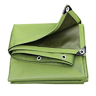 LIANGJUN Tarpaulin Rainproof Single-sided Polyvinyl Chlorid Sun Protection Canvas Awning Thickening Mildew-proof Tear Resistance Truck Outdoor Cover Cloth 650g/m², Thickness 0.75mm ( Color : ArmyGreen , Size : 4X6m )