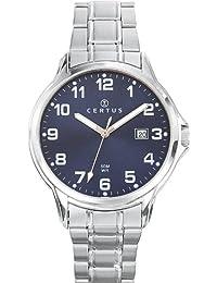 Certus  616387 - Reloj de cuarzo para hombre, con correa de acero inoxidable, color plateado