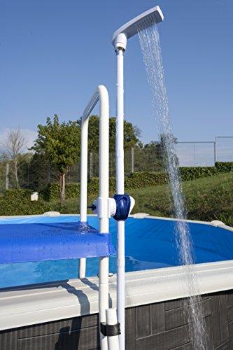 Manufacturas Gre DPE10 - Douche solaire pour piscine hors-sol avec système de fixation sur l'échelle