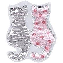 339c1be87 ULTNICE Gato reversible cambio de color lentejuelas costura DIY ropa  parches ropa accesorios (rosa)