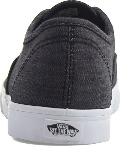 Vans - - Unisex-Adult Authentic Lo Pro Schuh (Shadow Stripe) Black/True White