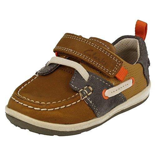 Clarks Boy's Beige First Walking Shoes - 6.5 kids UK/India (23 EU)