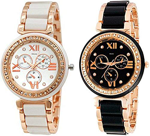 Kitcone Analog Multi-Colour Dial Women\'s Watch -(Pack of 2)