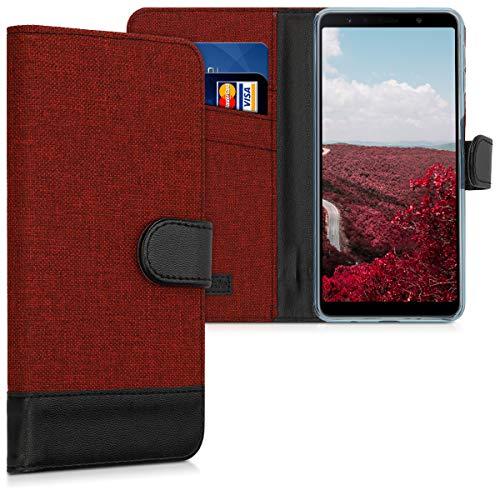 kwmobile Samsung Galaxy A7 (2018) Hülle - Kunstleder Wallet Case für Samsung Galaxy A7 (2018) mit Kartenfächern und Stand