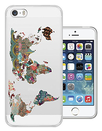 Iphone-hülle Map 5c World (C0191 - Colourful Tropical World Map Design iphone 6 6S 4.7'' Fashion Trend Silikon Hülle Schutzhülle Schutzcase Gel Rubber Silicone Hülle)