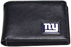 NFL New York Giants Men's Leather RFiD Safe Travel Wallet, 4.25 x 3.25