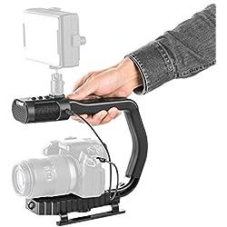 Sevenoak MicRig Universal mango de vídeo con micrófono integrado calidad para Smartphone Gopro cámara réflex digital Videocámara 60 horas tiempo de funcionamiento Filtro de corte interruptor de atenuación de sonido ajustado