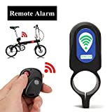 #5: Loud Sound Security Bike Lock Remote Control Alarm Waterproof Bicycle Alarm Lock Anti-Theft Lock Sturdy Black Plastic No Rust