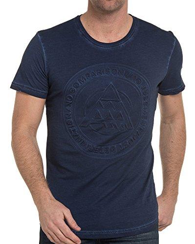BLZ jeans - Shirt blau Logoprägung Blau