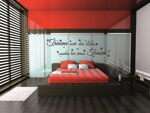 WANDTATTOO für´s Schlafzimmer ***Träume nicht dein Leben, sondern lebe deinen Traum*** Größen u. Farbauswahl – von A&D design