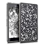 kwmobile Sony Xperia Z3 Compact Hülle - Handyhülle für Sony Xperia Z3 Compact - Handy Case in Silber Transparent