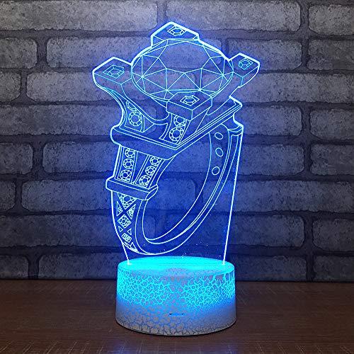 Schlafzimmer Led Kleine Led Nachtlicht Valentinstag Geschenk Tisch Weiß Basis Schöne 7 Farbwechsel 3D Lampe -