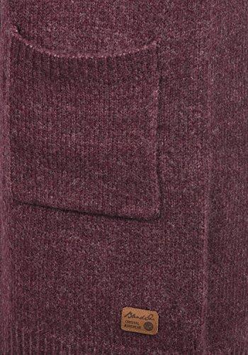 BLEND SHE Koko Damen Strickjacke lang Cardigan Grobstrick mit offenem V-Ausschnitt aus hochwertigem und weichem Material Meliert Zinfandel