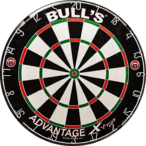 BULL'S Advantage Xtra Bristle Dartboard / Dartscheibe, inkl. Profix Wandhalterung