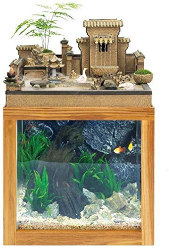 ZHUYUE Beautiful Desk Aquarium Table Fish Tank Interior Decoration Humidification Natural Landscape Home Decoration…
